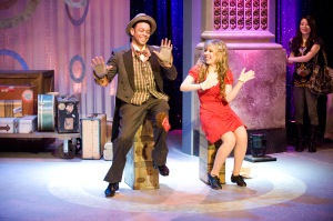 "Lane Napper tap dances with Jennette McCurdy (Sam) on the iCarly episode ""I Was a Pageant Girl.""(Photo courtesy of Nickelodeon)"