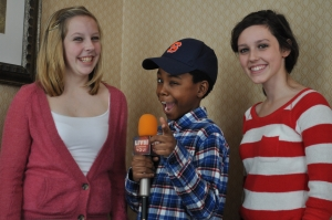 Child star Niles Fitch after his LSY! interview with Emily Wheeler and Francesca Harvey.(Photo by Tim O'Shei)