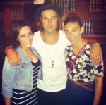 Ryan Cabrera with authors Francesca Harvey and Narmeen Karzoun.