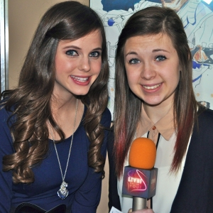 Tiffany Alvord, left, filled in LSY! teen reporter Rebecca Wojcinski on her rise to fame via YouTube. (Photo by Tim O'Shei)
