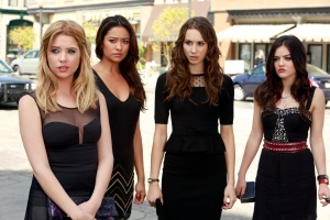 Ashley Benson, left, with Shay Mitchell, Troian Bellisario and Lucy Hale on ABC Family's Pretty LIttle Liars. (ABC FAMILY/Ron Tom)
