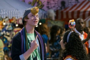 Calum Worthy has made lots of friends through his job on Disney Channel's Austin & Ally, including co-star Raini Rodriguez. (Photo by Bruce Birmelin/courtesy of Disney Channel)