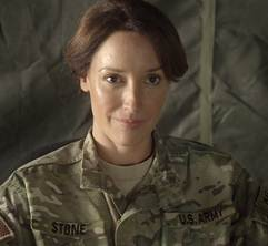"Jennifer Beals as Major Jo Stone on ""Lauren."" (Courtesy WIGS)"
