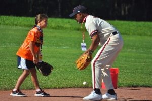 Ozzie Smith hosted a skills clinic in Cooperstown to raise money for the Baseball Hall of Fame's education programs. (Photo by Bryanna Gwitt)