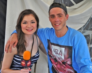Rapper Sammy Adams told LSY teen reporter Jessica Wojcinski that songwriters should be vulnerable. (Photo by Tim O'Shei)