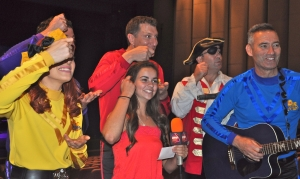 "LSY teen reporter Emma Smith learned the ""Fruit Salad"" song and dance before The Wiggles' performance at the UB Center for the Arts. (Photo by Rebecca Wojcinski)"