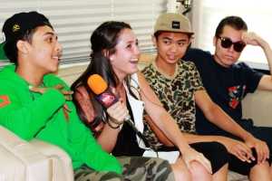 W3 The Future, with LSY reporter Gabi Hartman, has signed with Lil Wayne's Young Money Entertainment. (Photo by Rachael Cohen)