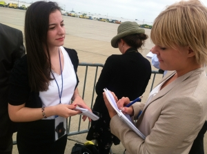 Rebecca is interviewed by Jenny Modin, reporter for the Swedish national newspaper Expressen.