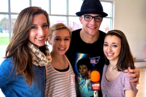 Tony Bellissimo after a 2011 interview with Live! Starring ... You! at Future Dance Center. (Photo by Bryanna Gwitt)