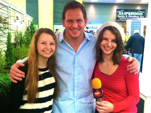 Sisters and LSY! reporting duo Lizzie and AnnMarie Lepertine with Jason Cameron.