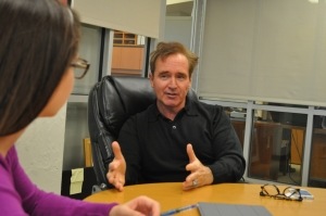 Congressman Brian Higgins talked to LSY! reporter Rebecca Brandel about balancing respect and informality when working with people in power. (Photo by Emma Smith)