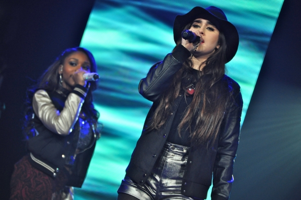 Lauren Jauregui of Fifth Harmony told us fans were surprised that she was taking a public bus. (Photo by Tim O'Shei.)
