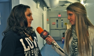 Jordyn Wieber talked to LSY!'s Hailey Rose Gattuso at the Progressive Skating & Gymnastics Spectacular in Jamestown. Catch the TV special at 1 pm EST this Sunday, Jan. 5 on NBC. (Photo by Francesca Harvey)