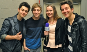 Becky Harms with the brother band Before You Exit.