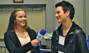 Toby McDonough of Before You Exit with Becky Harms. (Photo by Natalie Brophy)