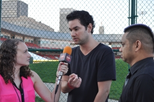 Noelle DeFabio interviews Roman and Flipside of the Jump Smokers at the 2013 Kiss the Summer Hello concert.
