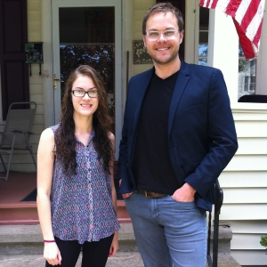 NCIS writer Christopher Waild with LSY! reporter Erin Manth, who's a family friend.