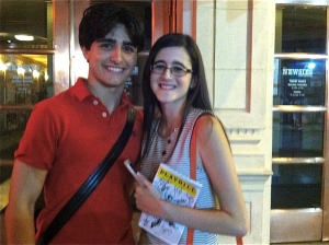 Newsies actor Giuseppe Bausilio did a quick stage-door interview with Amanda McNulty after a recent Broadway performance.