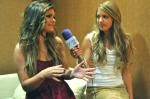 "Jacquie Lee of ""The Voice"" talks to Hailey Rose Gattuso during a recent tour stop at the Seneca Niagara Events Center in Niagara Falls, New York. (Photo by Marissa Saber)"