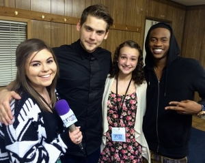Tony Oller and Malcolm Kelly of MKTO with LiveStarringYou.com co-editors Catherine McDaniel and Noelle DeFabio.
