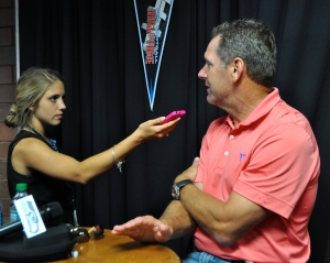 Hall of Fame wide receiver and former Congressman Steve Largent told Hailey Rose Gattuso that goal-setting has been integral to his success –even when his goals aren't reached. (Photo by Michelle Ostrander)