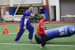 Buffalo Bills wide receiver Chris Hogan hopes that by playing sports with kids, he'll inspire them to keep active. (Photo by Hailey Rose Gattuso)
