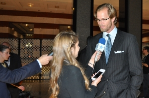 NHL veteran Chris Pronger told Hailey Rose Gattuso on the red carpet at the Hockey Hall of Fame inductions that he drove himself with negative feedback. (Photo by Michelle Ostrander)