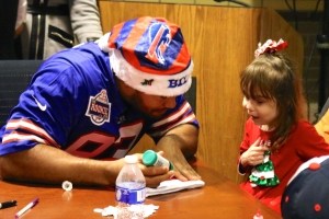 Bryan Johnson was one of several Bills rookies who met with young patients. (Photo by Hailey Rose Gattuso)