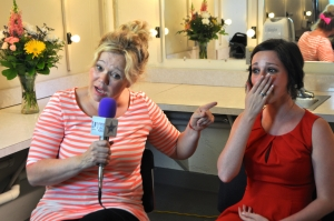 Caroline Rhea gave Francesca Harvey advice on pursuing an entertainment career. (Photo by Leah Santiago)