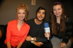 Mike Deleasa with Rachel Joachimi and Megan Rooney. (Photo by Tim O'Shei)