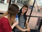 Spencer Sutherland chats with LSY! reporter Becca Wojcinski about his new EP. (Photo by Erika Taylor)
