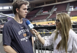 Connor McDavid chats with Hailey Rose Gattuso.
