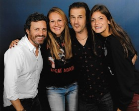 Megan Preisch, second from left, and cousin Leah Giles with actors Rob Benedict and Richard Speight Jr. from Supernatural